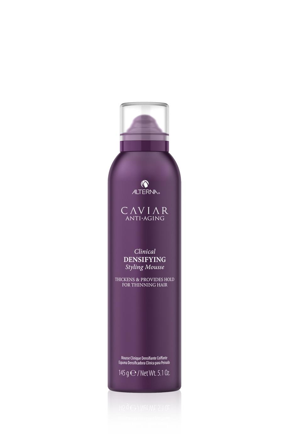 CAVIAR Anti-Aging Clinical Densifying Styling Mousse Мусс-детокс для уплотнения и стимулирования роста волос с экстрактом красного клевера, 145гр
